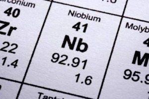 Физические свойства ниобия Nb при различных температурах