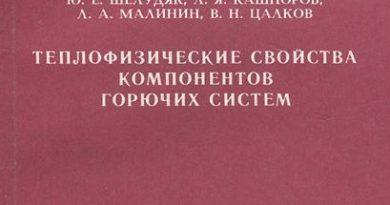 Шелудяк Ю Е и др Теплофизические свойства компонентов горючих систем Справочник